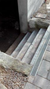 Treppe Entwässerungsrinne