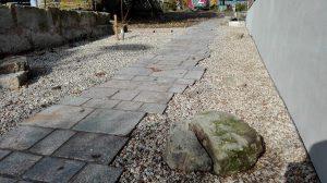 Gartenweg frei auslaufend