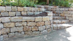 Mauer Naturstein Muschelkalk